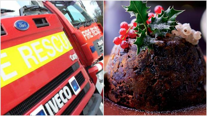 Christmas Pudding On Fire.Somerset News Christmas Pudding Destroyed In Microwave Fire